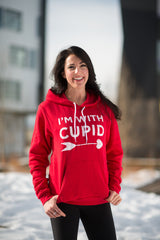 I'm With Cupid Red Sweatshirt