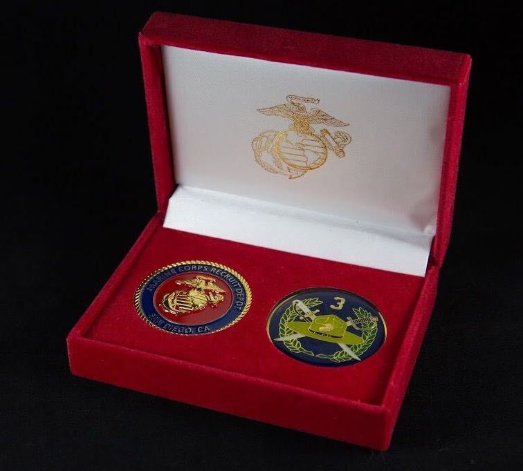 USMC San Diego Battalion Coin Set