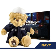 Load image into Gallery viewer, Sailor Sleeptight Navy Teddy Bear and Sleep System