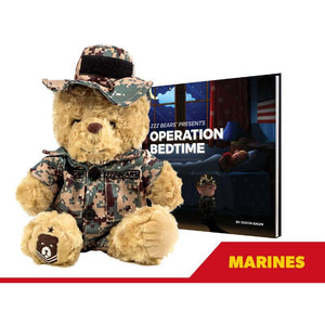 Sgt. Sleeptight Marine Camouflage Teddy Bear with Sleep System