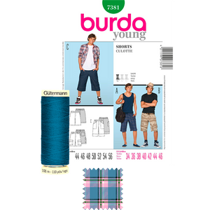Kit de Costura Short 7381  Burda (Tela+Hilo+Patrón)