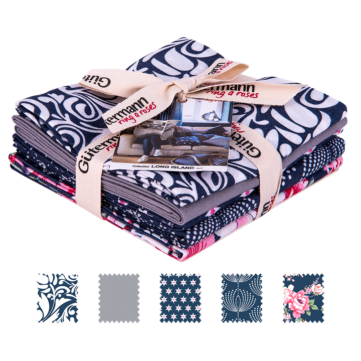 Fat Quarter de Telas Gütermann Colección Long Island