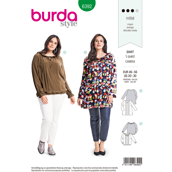 Patron Burda Tallas Plus Modelo 6392