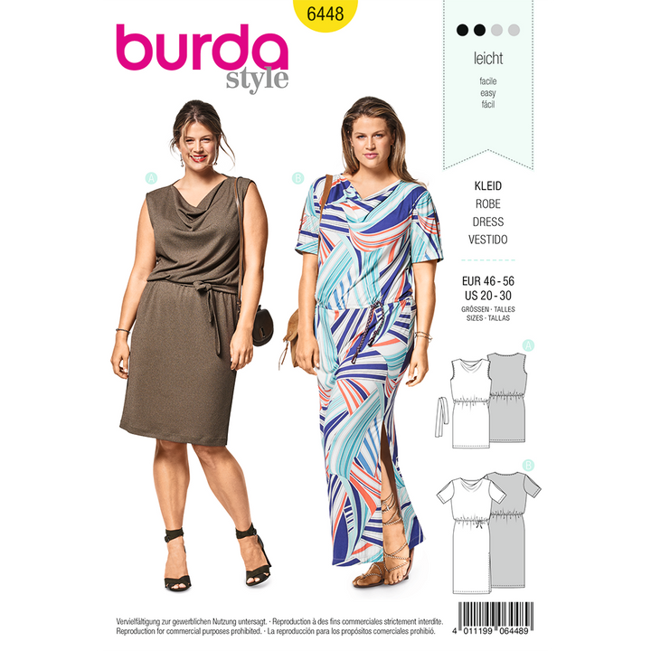 Patron Burda Tallas Plus Modelo 6448