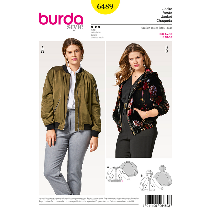Patron Burda Tallas Plus Modelo 6489