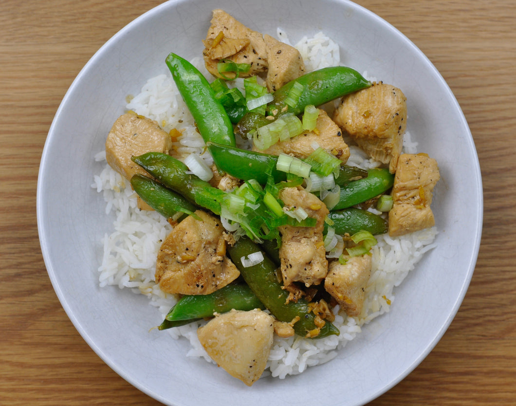 Asian Chicken with Snow Peas