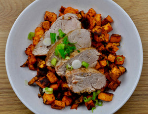 Paleo Pork Tenderloin and Sweet Potatoes