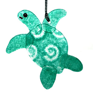 Teal Sea Turtle Ornament