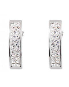 Clear Pave Crystal Post Earrings