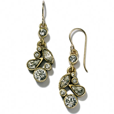 Gold Cherish Earrings in All Crystal