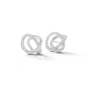 Scribble Pave Studs Earrings