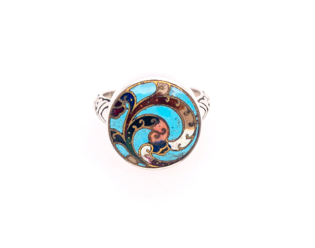 Art Nouveau Button Ring