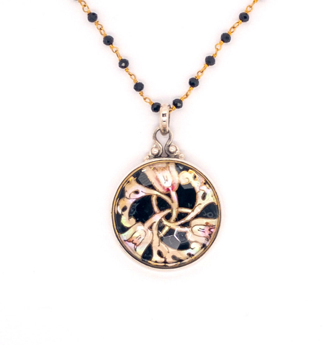 Art Nouveau Button Necklace