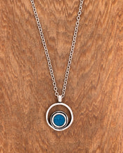 Load image into Gallery viewer, Silver Serenity Necklace in Caribbean Opal