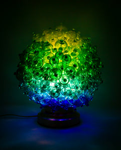 Gradient Green Bubble Lamp