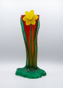 Red Ride Single Daffodil Vase