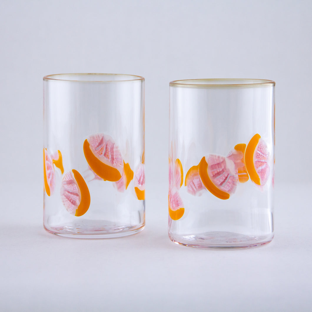 Pink Grapefruit Citrus Murrini Tumbler