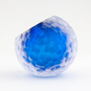 Blue Carved Purity Paperweight