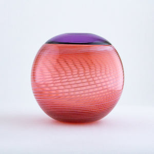 Purple and Salmon Purdy Vase