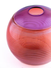 Load image into Gallery viewer, Purple and Salmon Purdy Vase