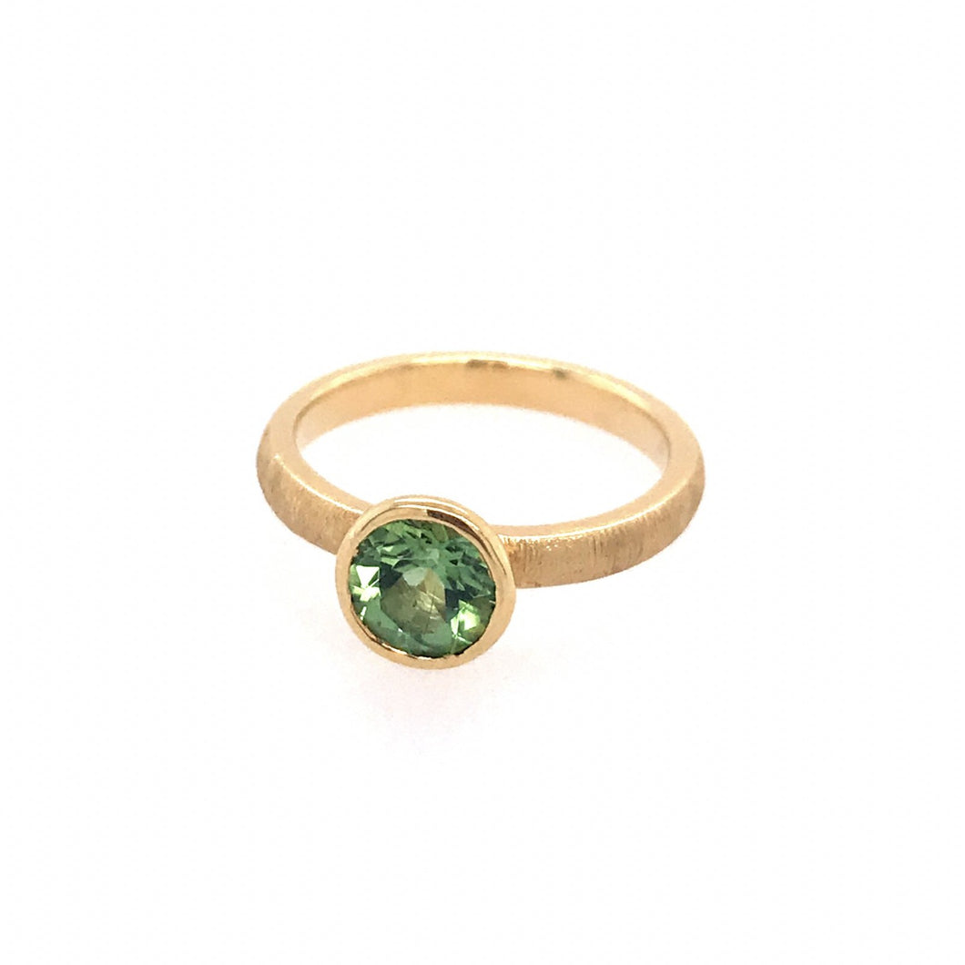 Green Tourmaline Aspen Ring