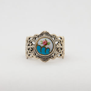 Rosette Button Ring