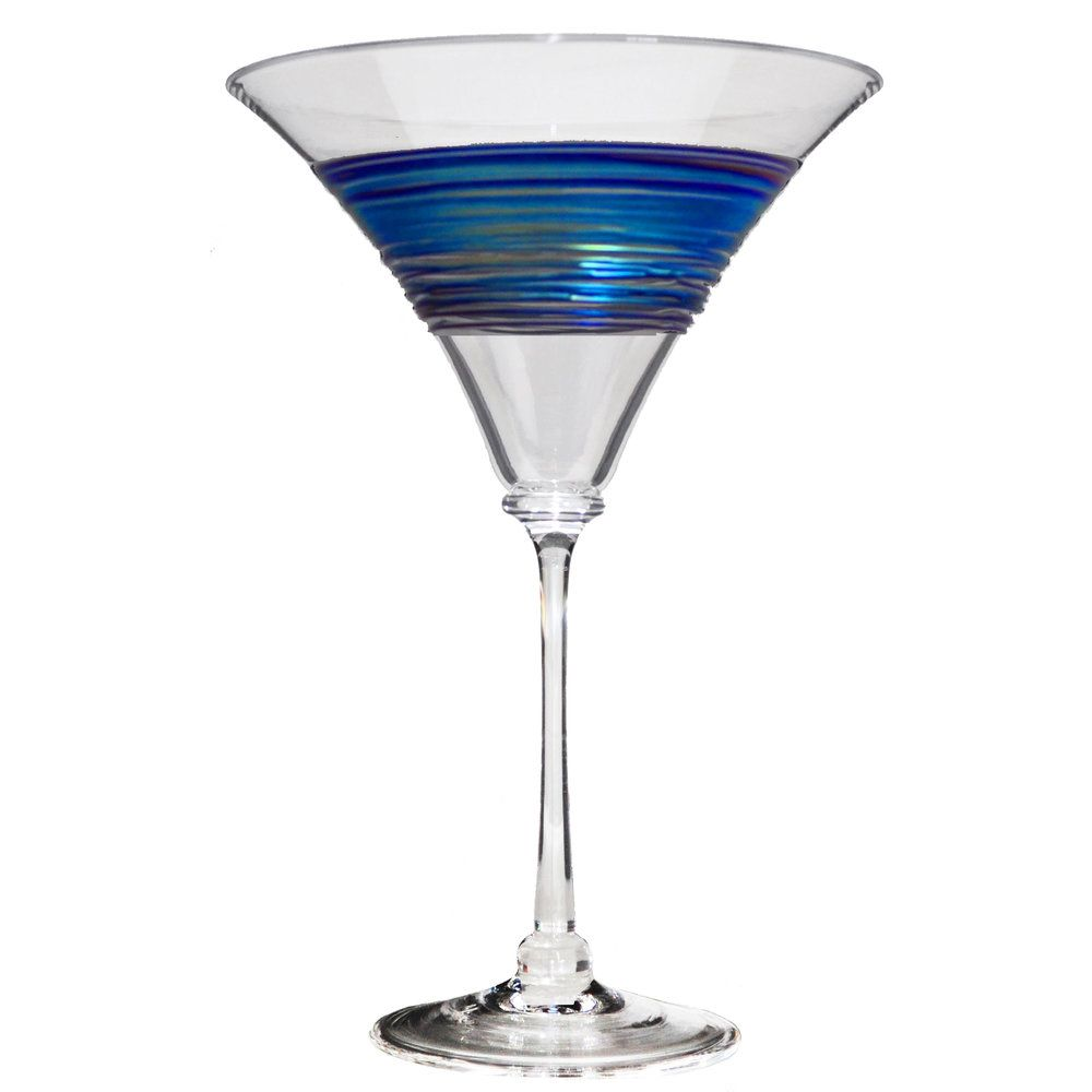 Rainbowspun Martini Glass