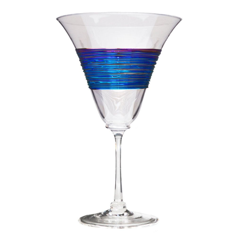 Rainbowspun Wine Glass