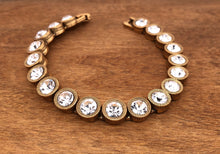 Load image into Gallery viewer, Gold All Crystal 40 Love Bracelet