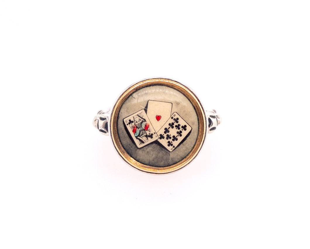 Poker Button Ring
