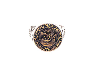 Rowboat Button Ring