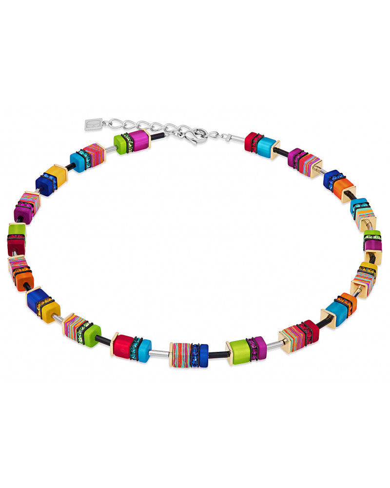 Multicolor Pressed Glass Necklace