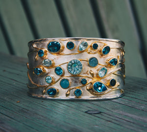 Multi-Gemstone Cuff