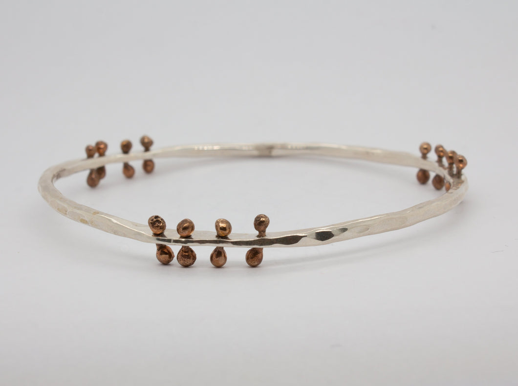 Silver & Bronze Mobile Bangle