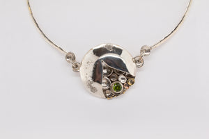Peridot Pebbles on the Beach Necklace