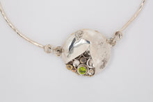Load image into Gallery viewer, Peridot Pebbles on the Beach Necklace