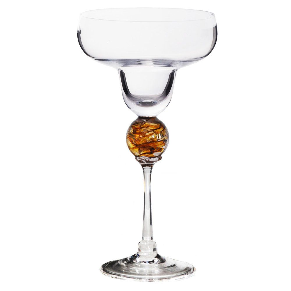 Amber Planet Margarita Glass