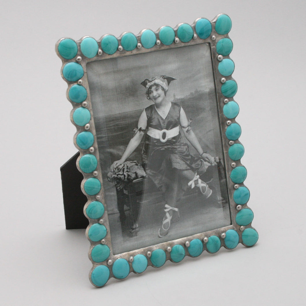 Opaque Teal Jewel Frame