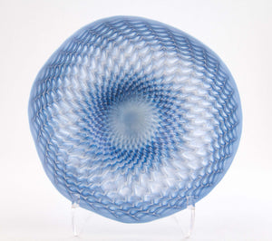 Blue Silver Fluted Bowl