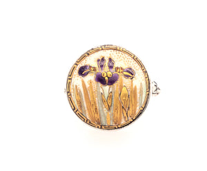 Purple Iris Satsuma Button Ring