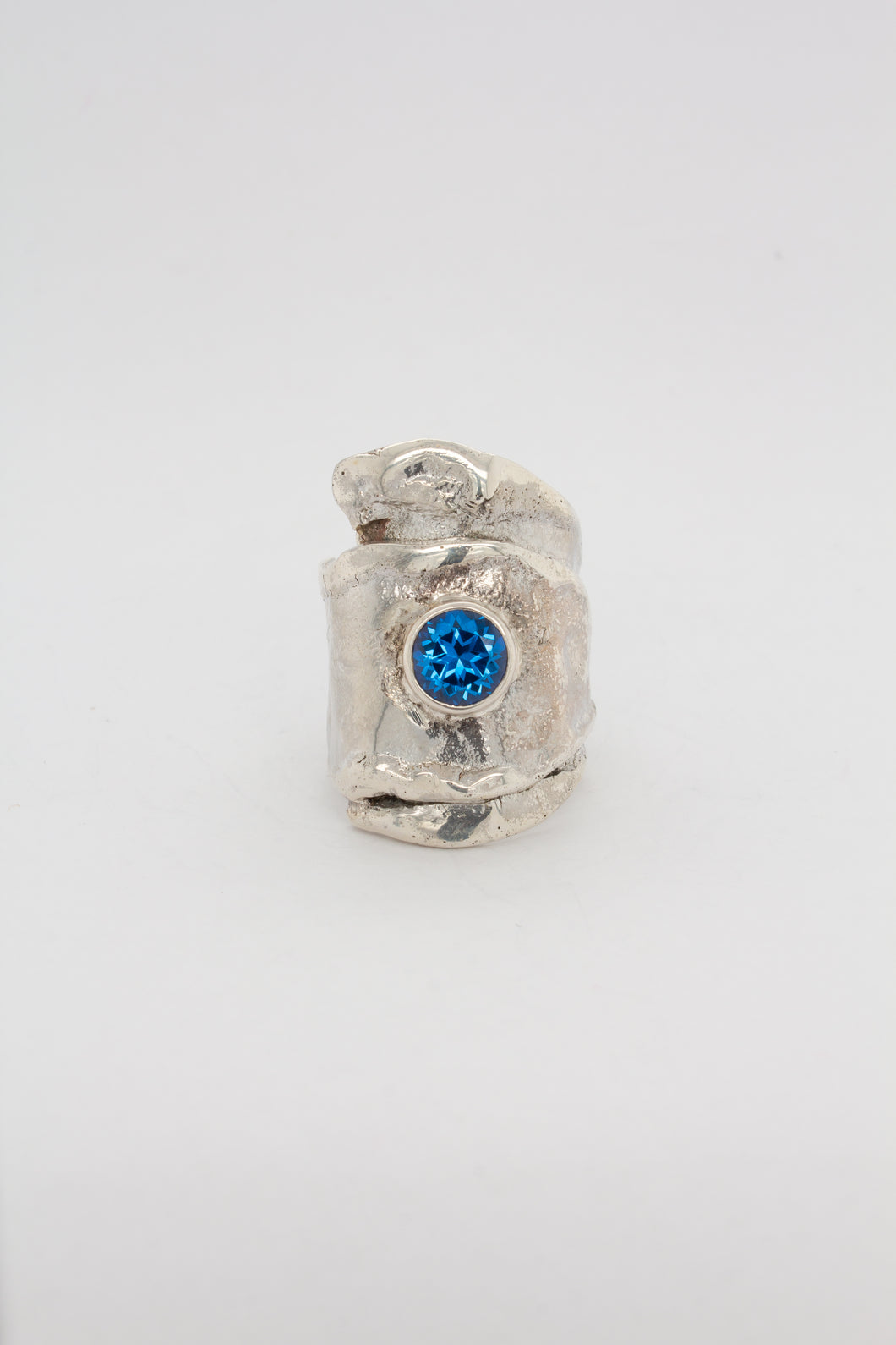 Reticulated Blue Topaz Ring