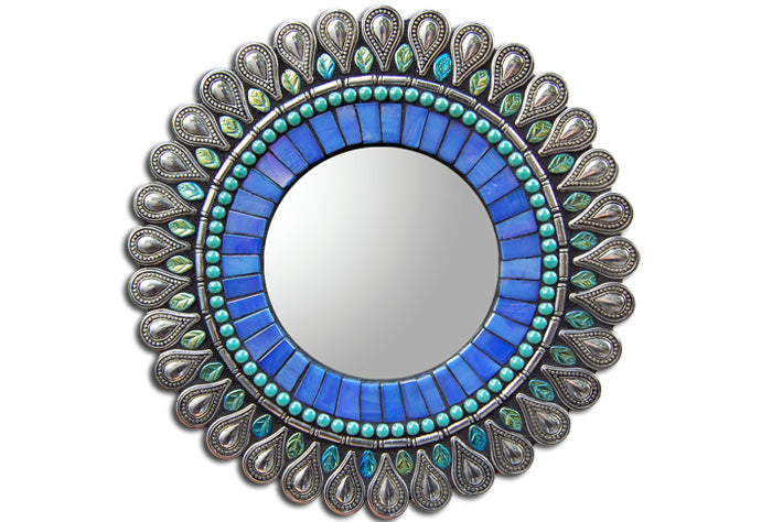 Iris Drop Mosaic Mirror