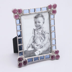 Blue and Purple Patchwork Frame