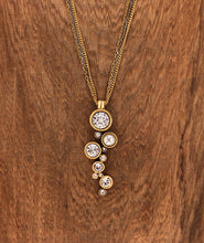 Load image into Gallery viewer, Gold & All Crystal Applause Necklace