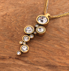 Gold & All Crystal Applause Necklace