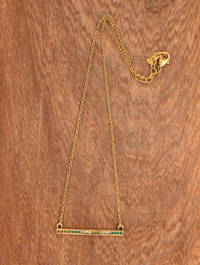 Axis Necklace in Gold & Inverness