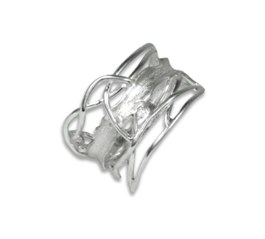 White Rhodium Edge Ring