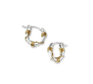 Small Sterling Silver Gold Wrap Cuff Earrings