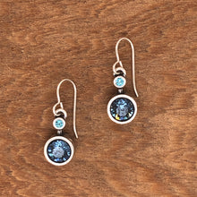 Load image into Gallery viewer, Silver Drip, Drop Earrings in Zephyr