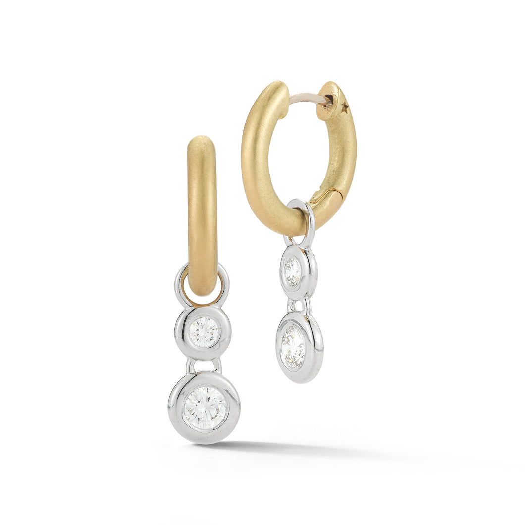 Mercer Huggie Double Drop Earrings